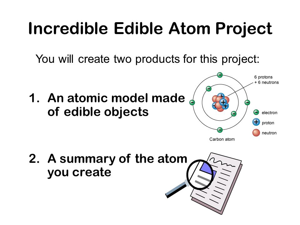 The Incredible Edible Atom Project - ppt video online download