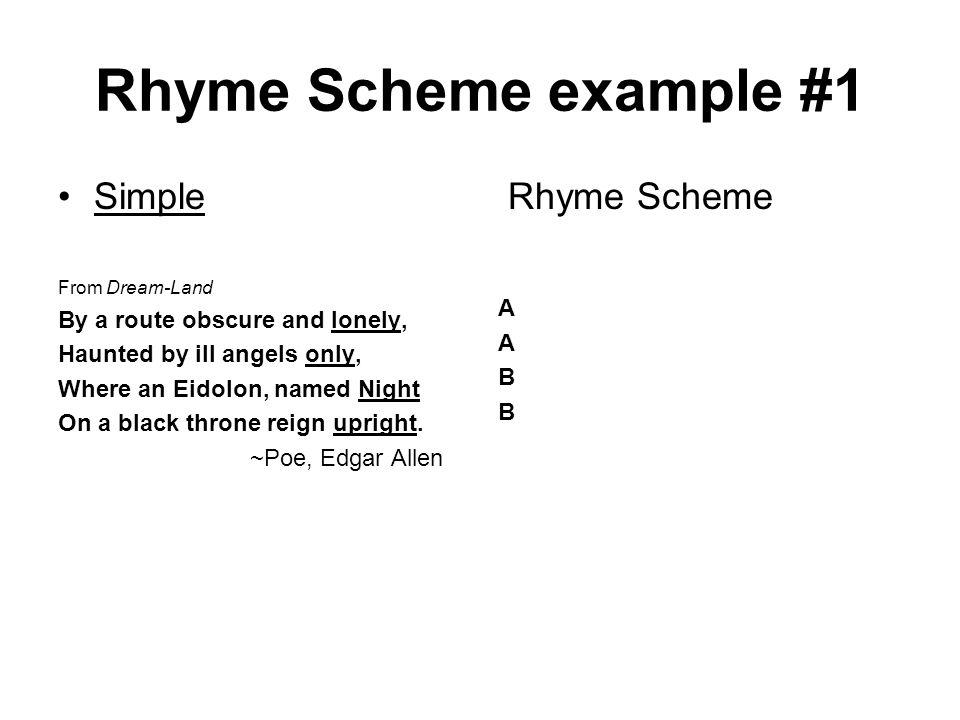 the sound of night rhyme scheme