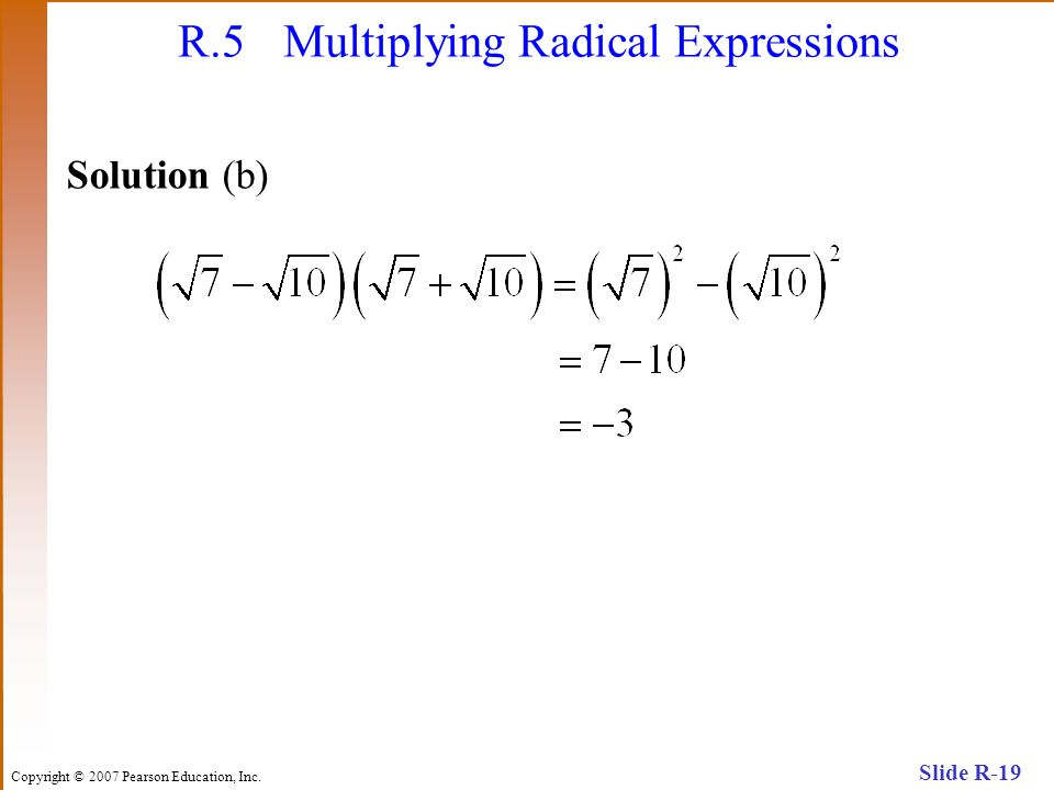 R.5 Multiplying Radical Expressions