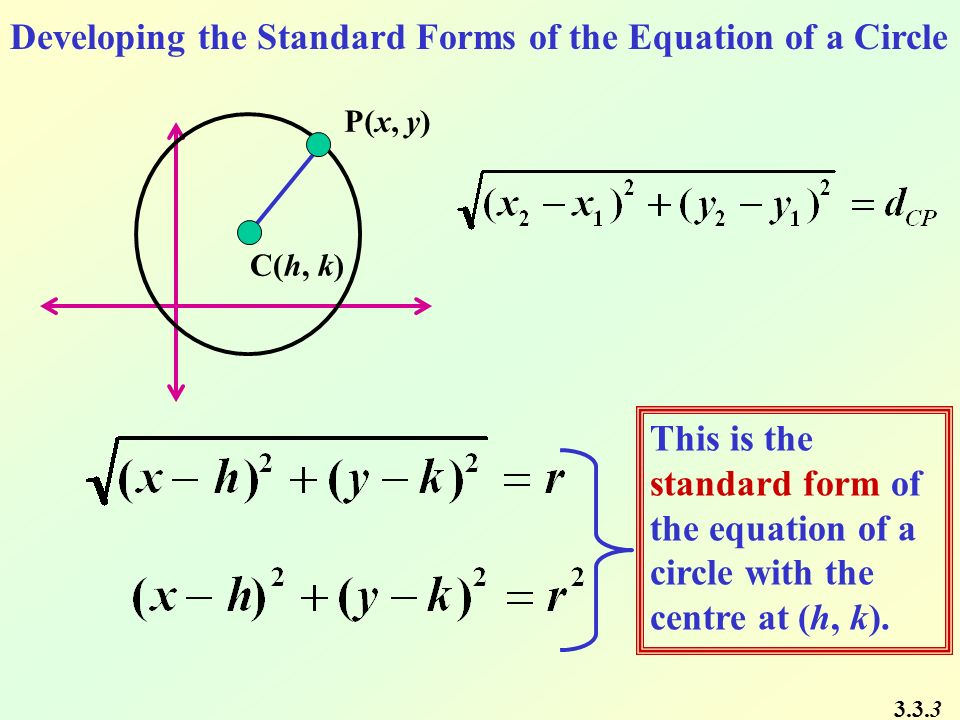 Chapter 3 Conics 33 The Circle Mathpowertm 12 Western Edition Ppt