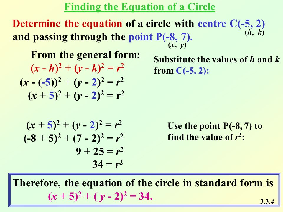 Find The Standard Form Of The Equation Of The Circle Images Free