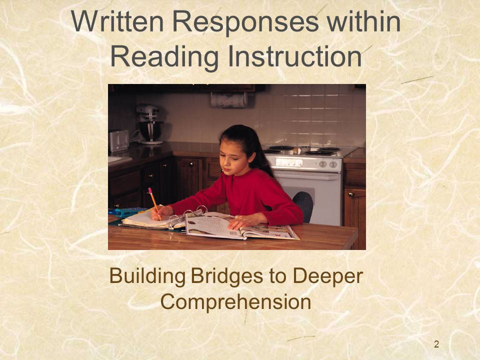 Written Responses within Reading Instruction