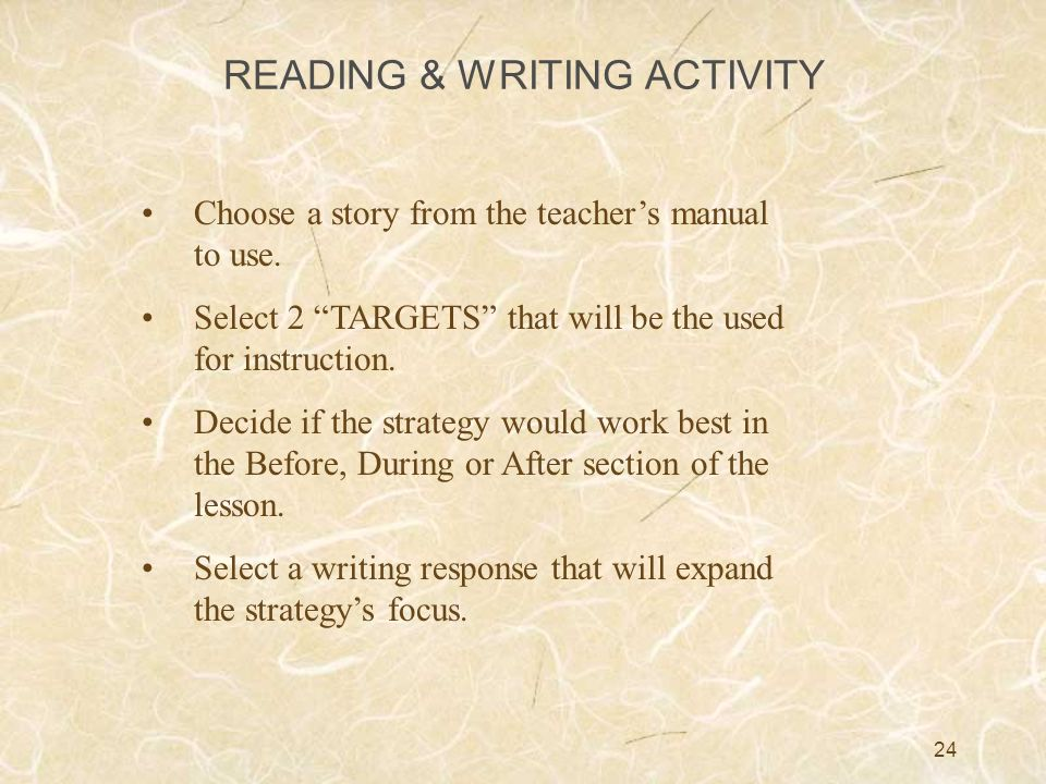 READING & WRITING ACTIVITY