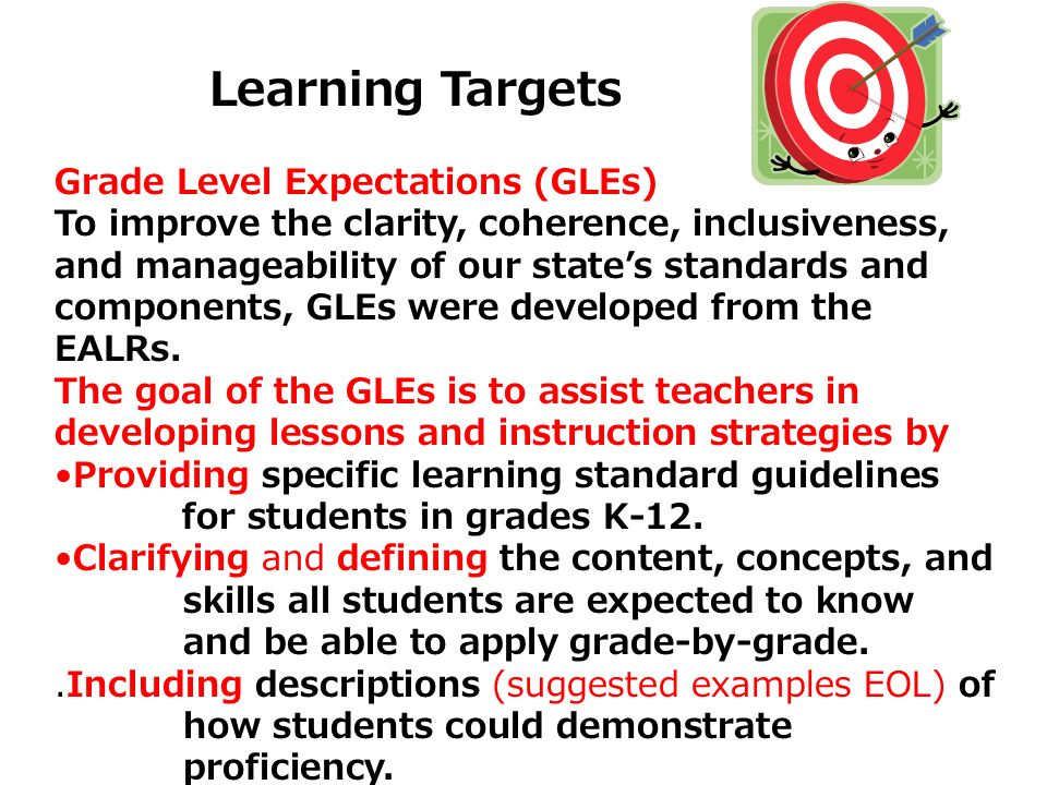 Grade Level Expectations (GLEs)