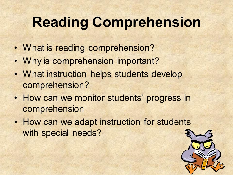 Reading comprehension ppt download.