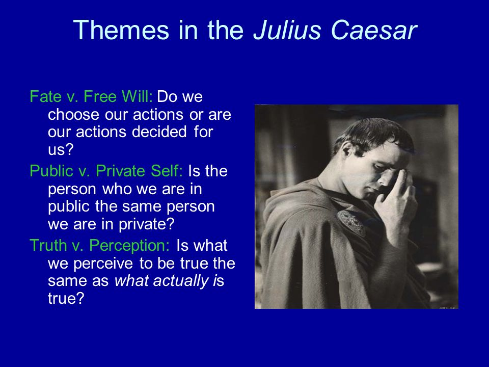 fate vs free will in julius caesar