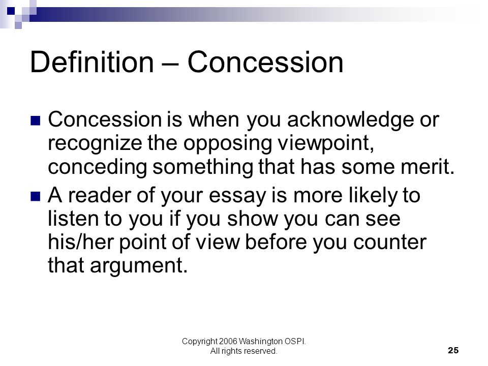 Definition – Concession