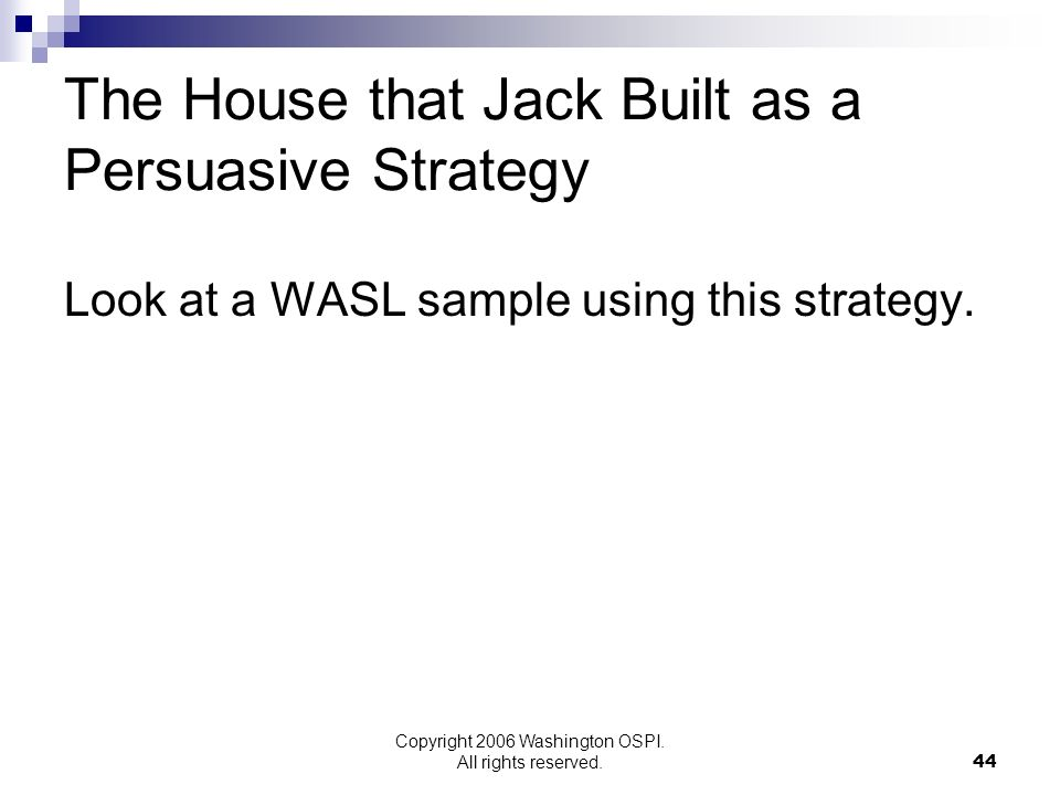 The House that Jack Built as a Persuasive Strategy