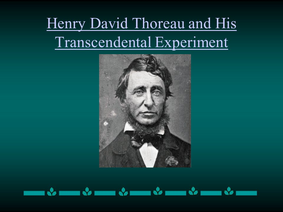 Henry David Thoreau and His Transcendental Experiment