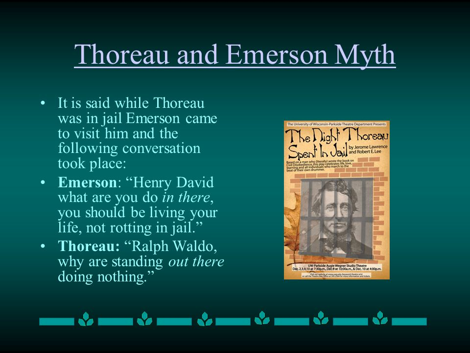 Thoreau and Emerson Myth