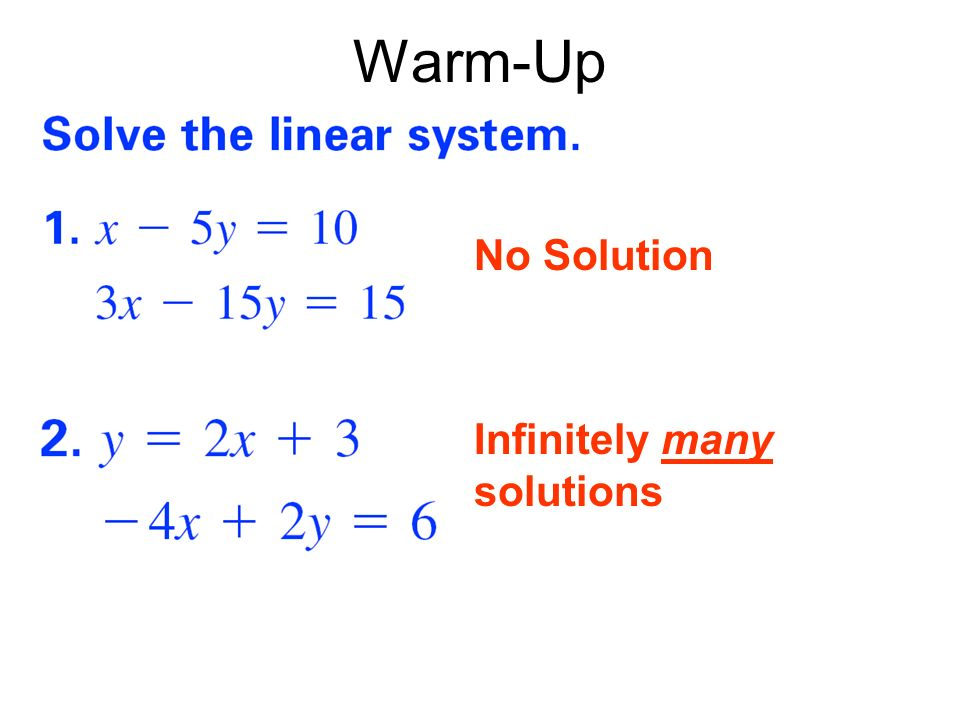 3.6 Solving Systems of Linear Equations in Three Variables ...