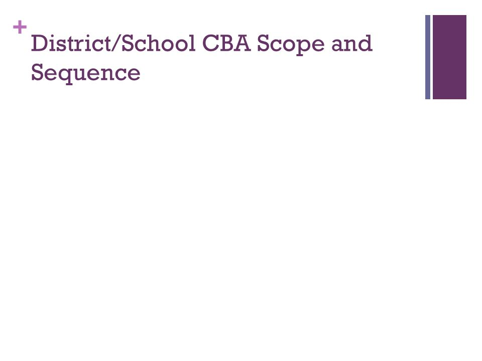 District/School CBA Scope and Sequence