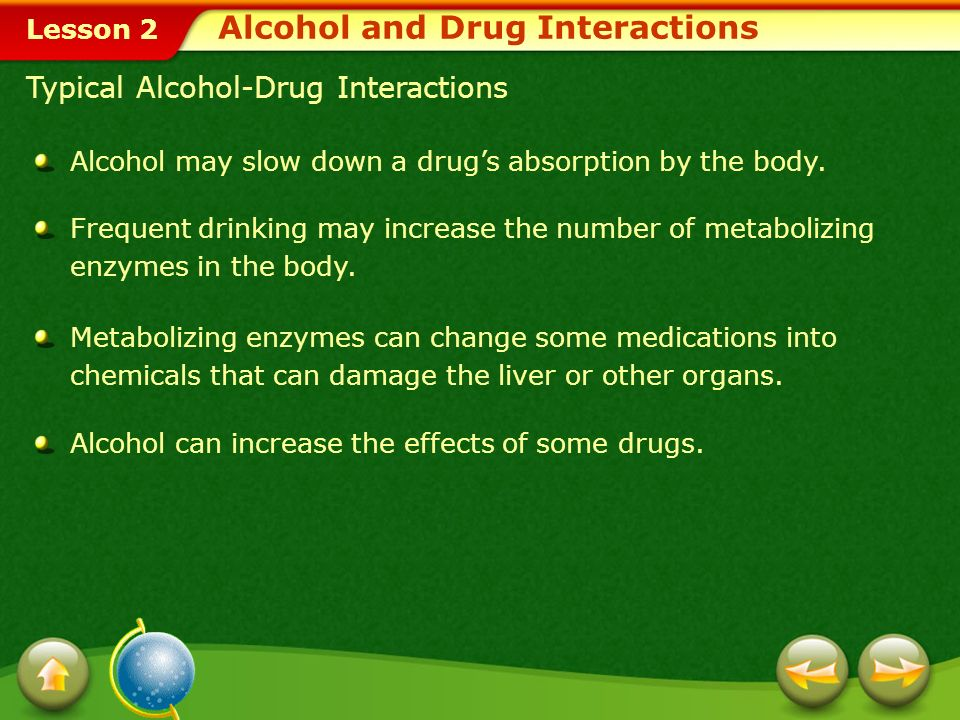 Alcohol and Drug Interactions