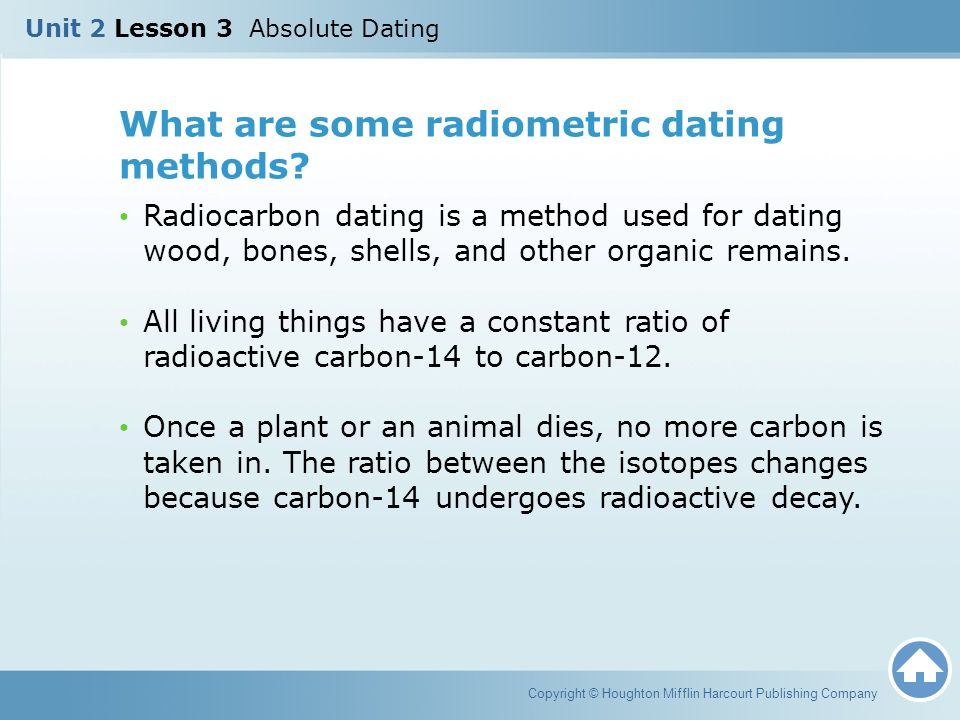 Explain the process of radiometric dating