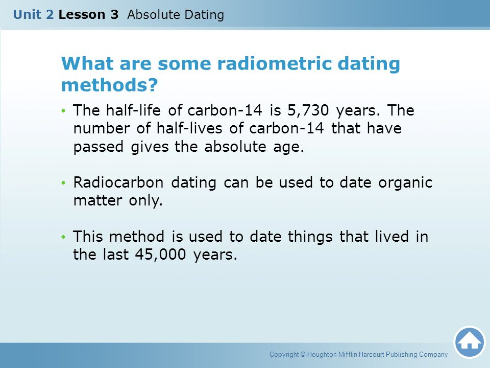 Carbon dating is used for what