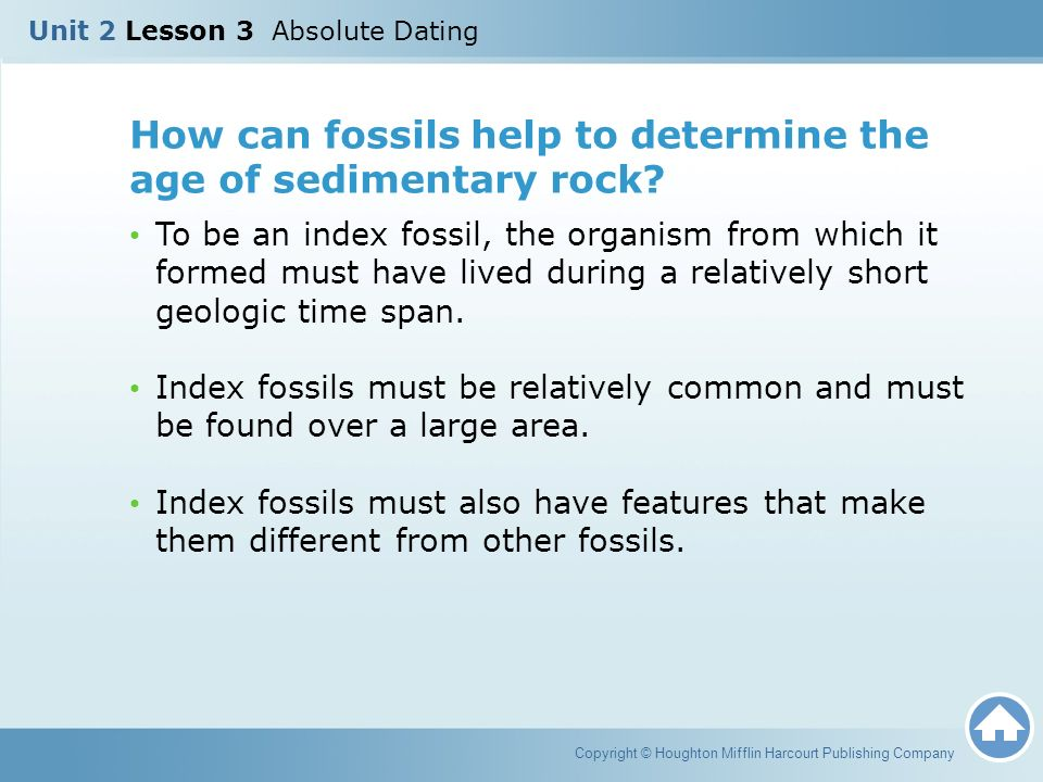 Index fossils are used for __________ dating