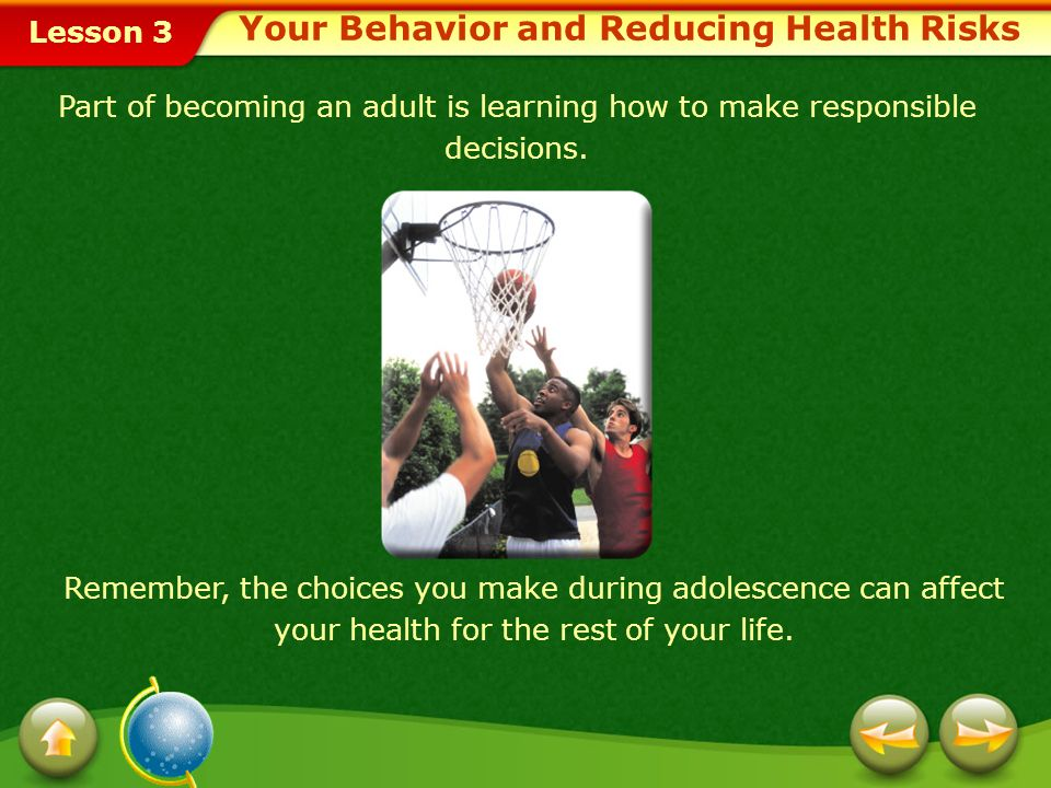 Your Behavior and Reducing Health Risks