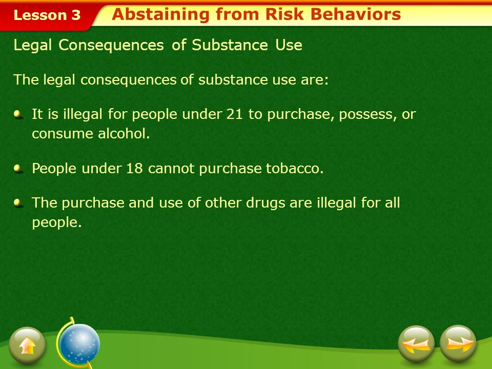 Abstaining from Risk Behaviors