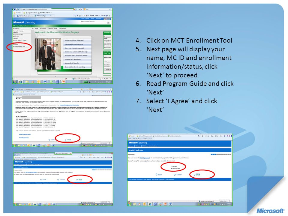 Click on MCT Enrollment Tool