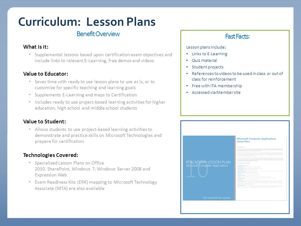 Curriculum Lesson Plans