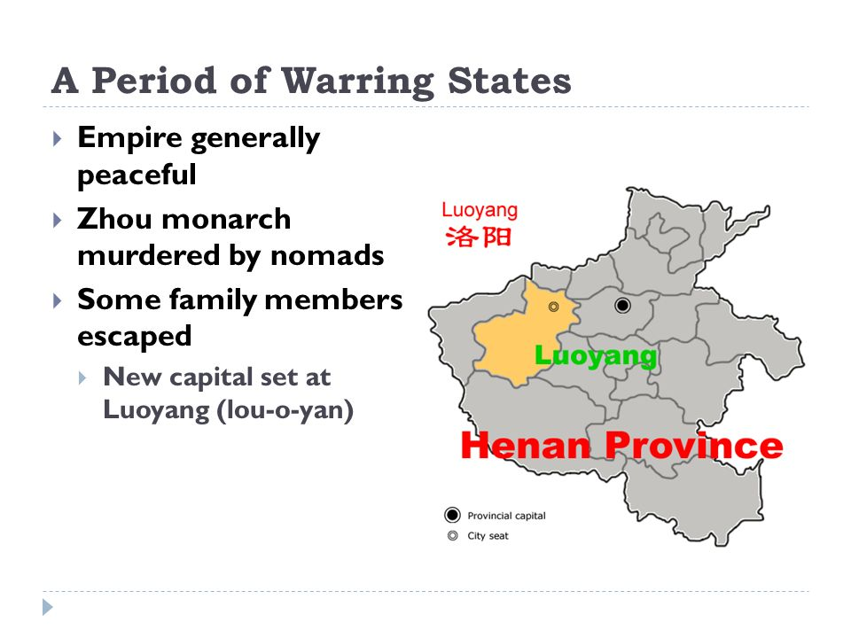 A Period of Warring States