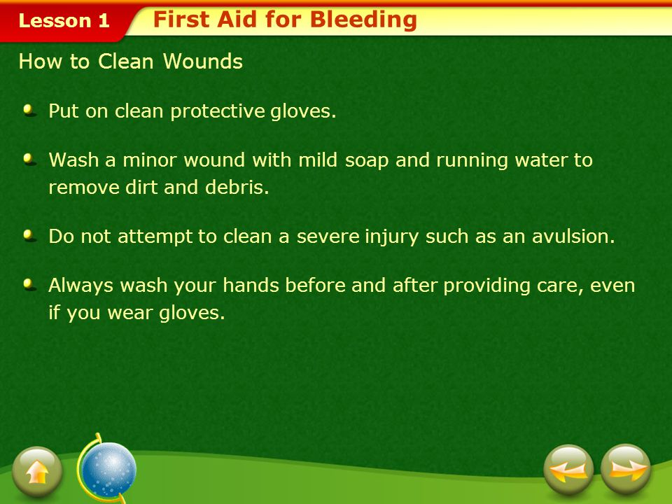 First Aid for Bleeding How to Clean Wounds