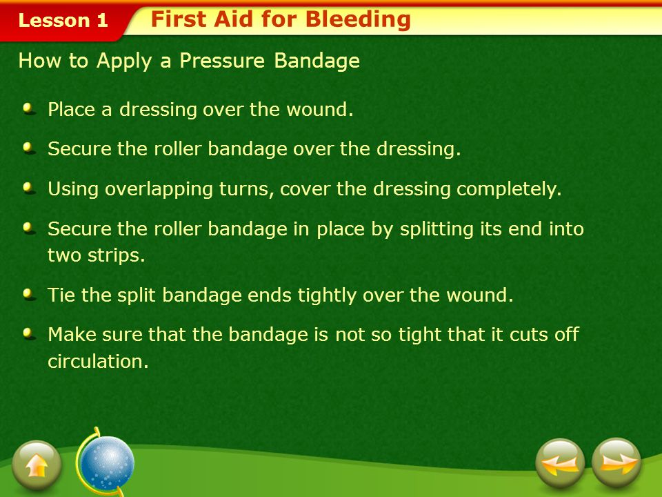 First Aid for Bleeding How to Apply a Pressure Bandage
