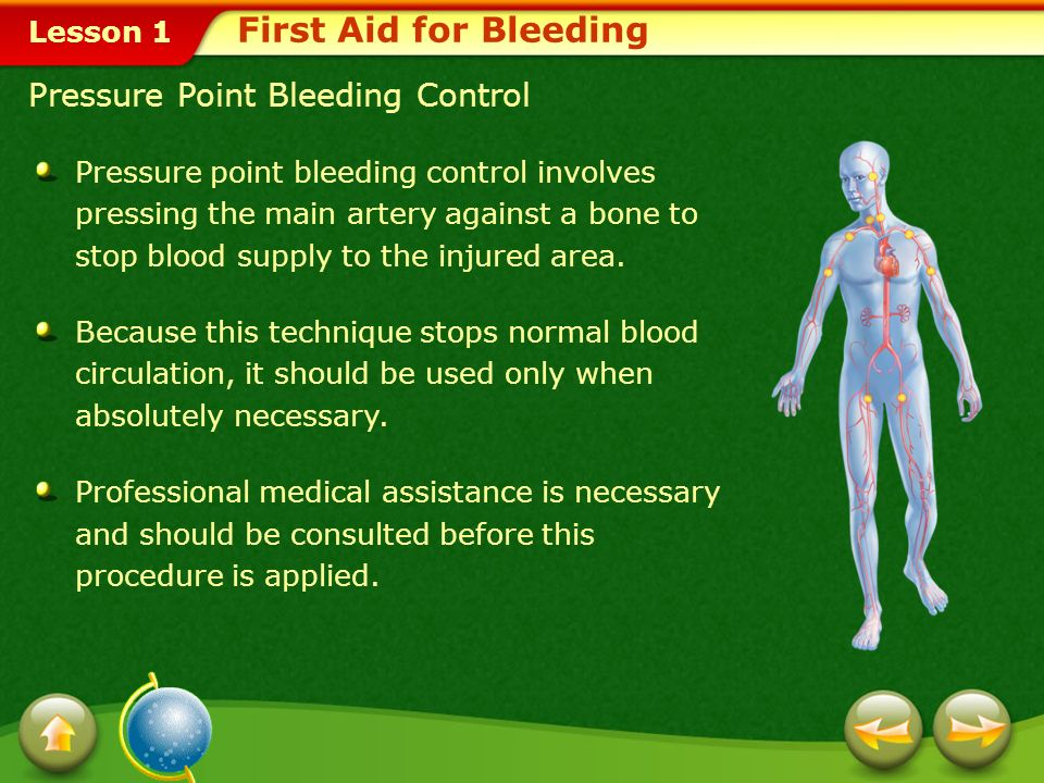 First Aid for Bleeding Pressure Point Bleeding Control