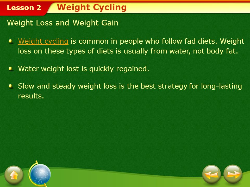 Weight Cycling Weight Loss and Weight Gain