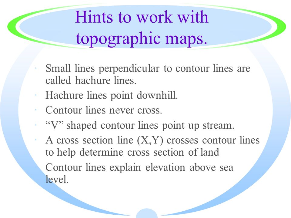 Hints to work with topographic maps.