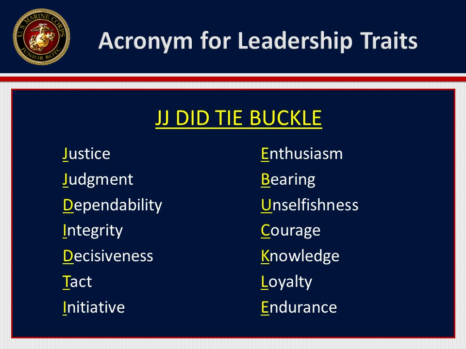 Military Leadership Traits Ppt Video Online Download