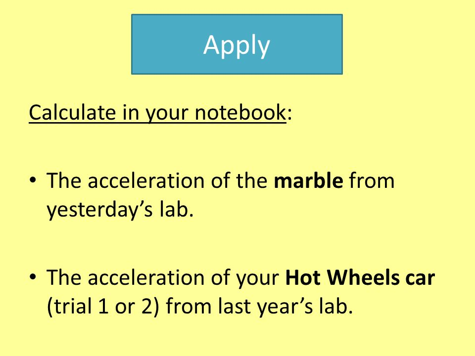 Apply Calculate in your notebook: