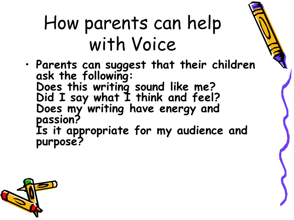 How parents can help with Voice