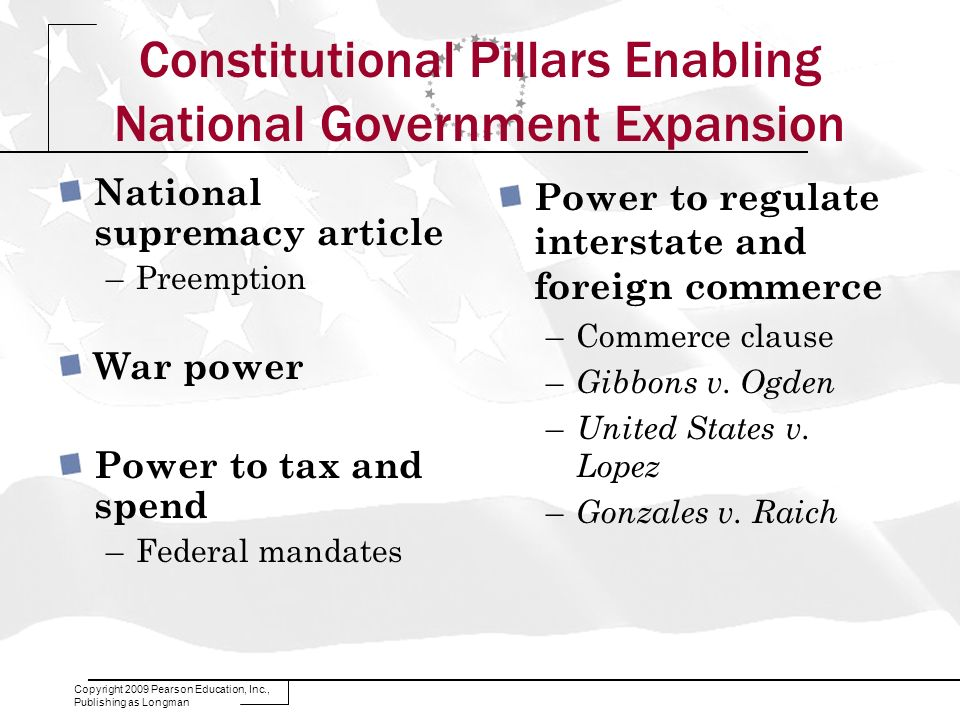 Constitutional Pillars Enabling National Government Expansion