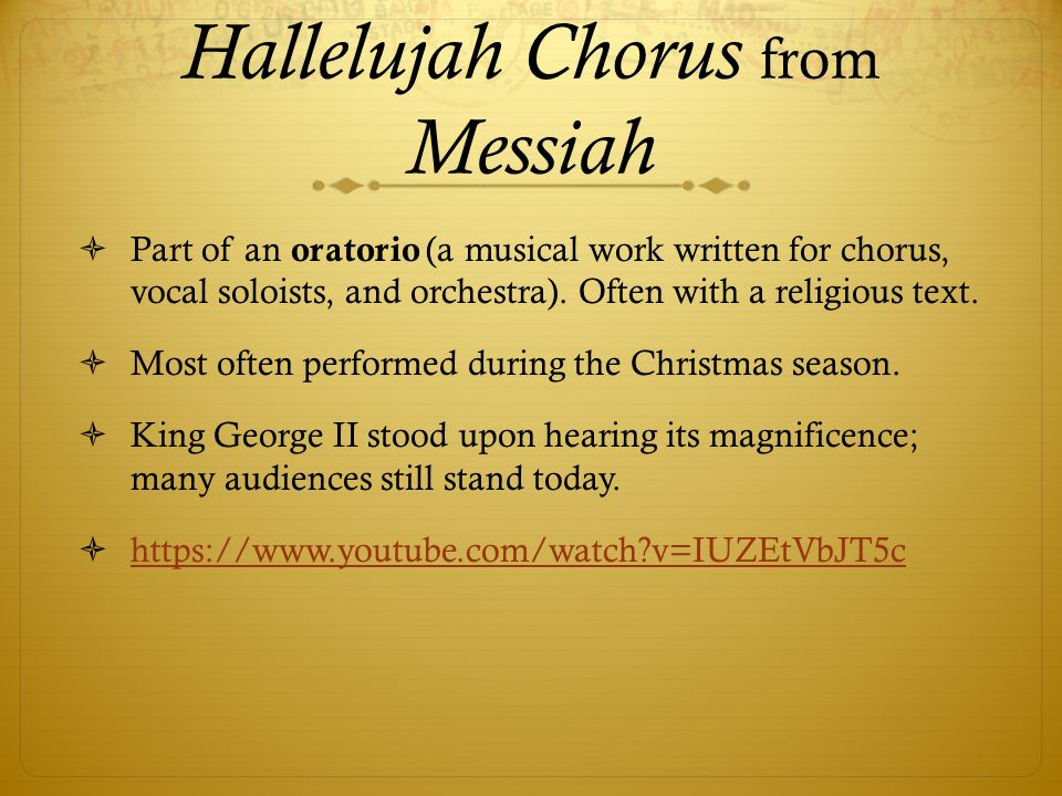 Hallelujah Chorus from Messiah