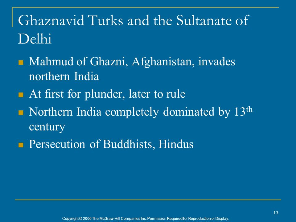 Ghaznavid Turks and the Sultanate of Delhi