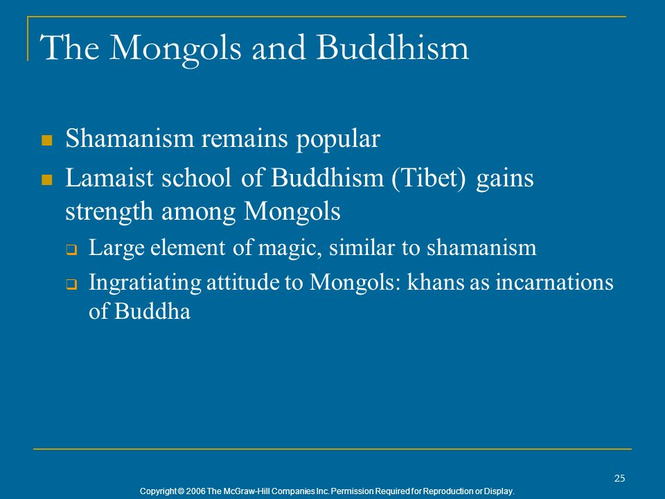 The Mongols and Buddhism