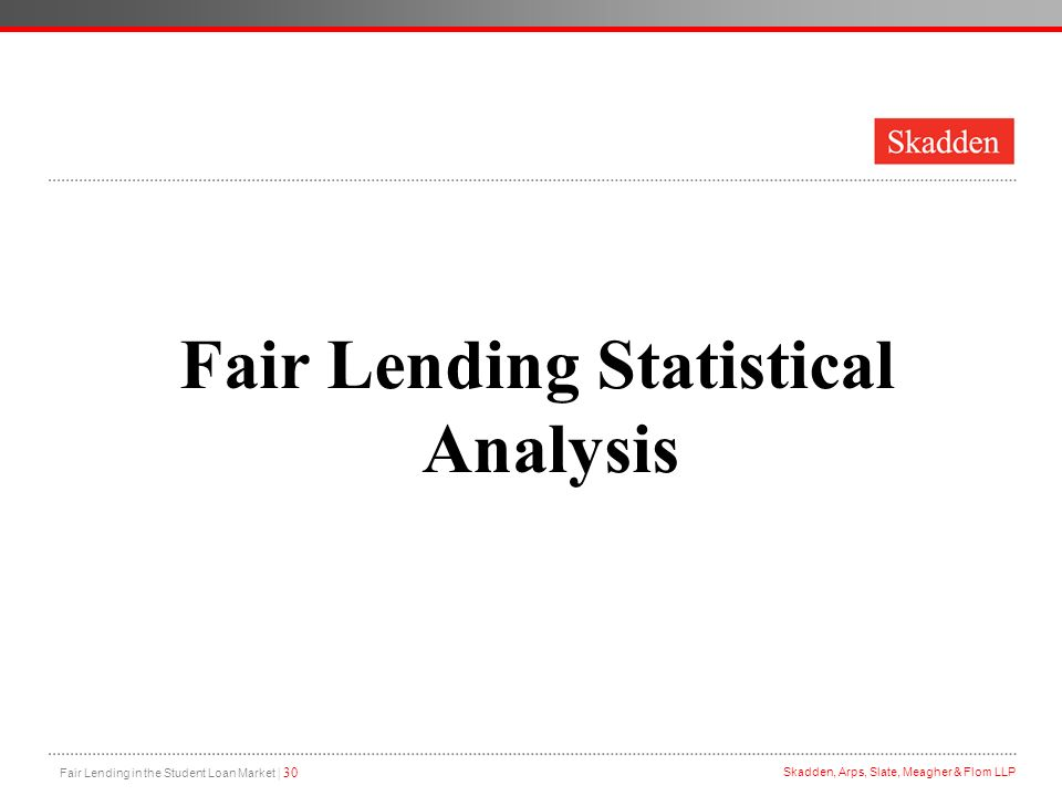 Fair Lending in the Student Loan Market - ppt download