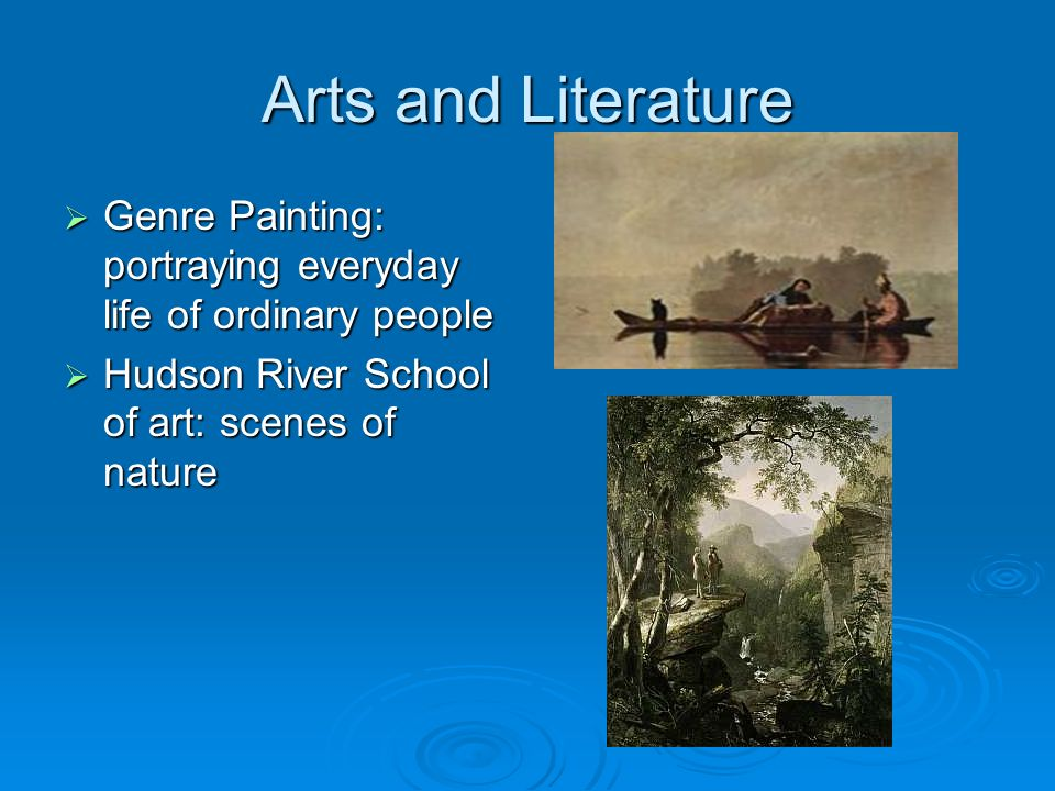 Arts and Literature Genre Painting: portraying everyday life of ordinary people.