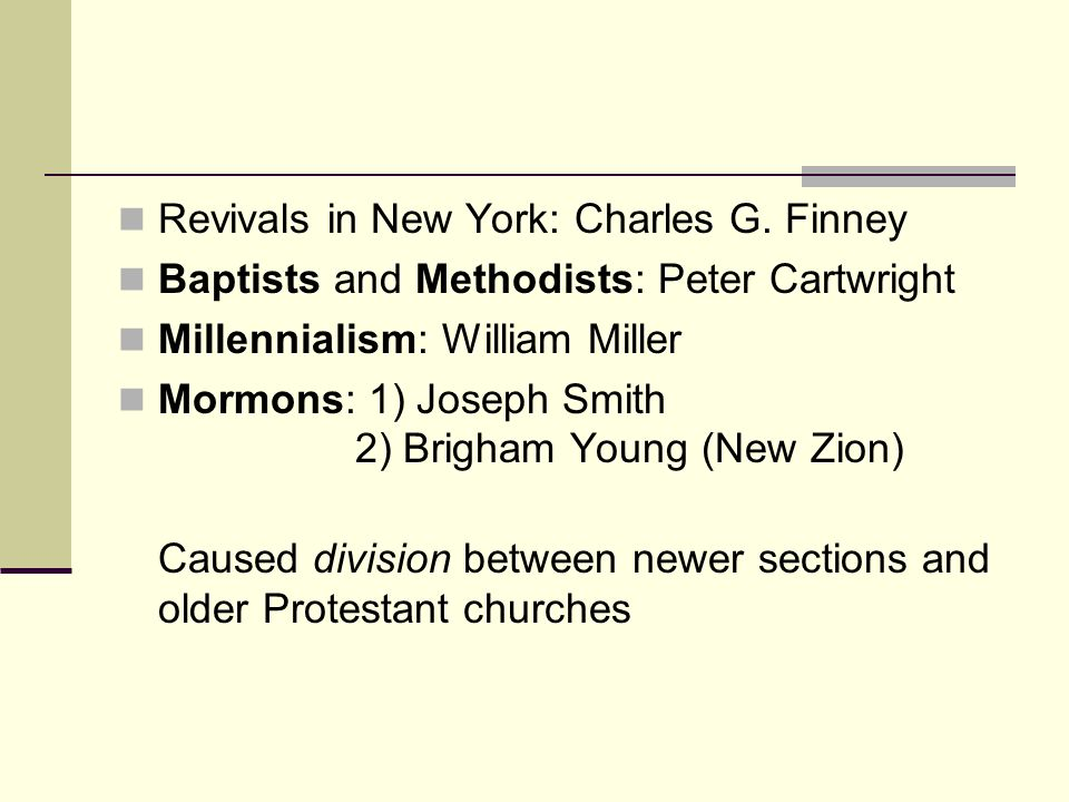 Revivals in New York: Charles G. Finney