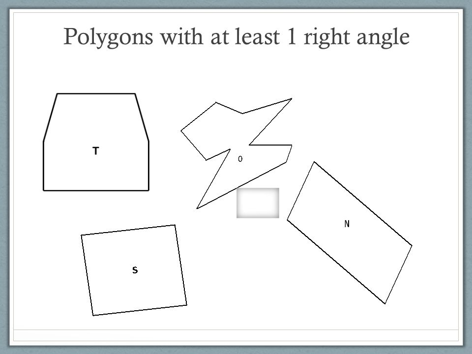 Polygons with at least 1 right angle
