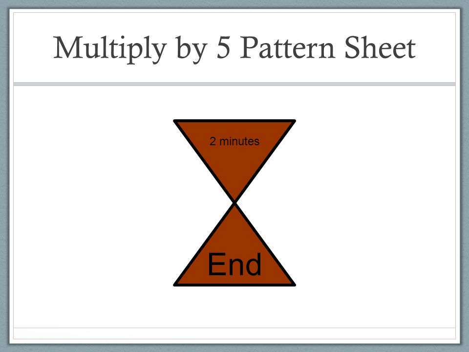 Multiply by 5 Pattern Sheet