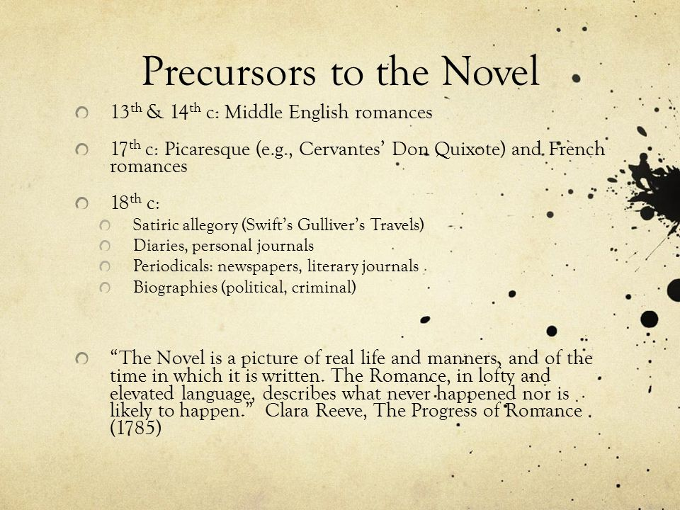 A short history of the novel - ppt download