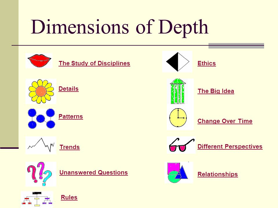Dimensions of Depth The Study of Disciplines Ethics Details
