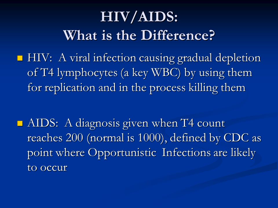 HIV/AIDS: What is the Difference