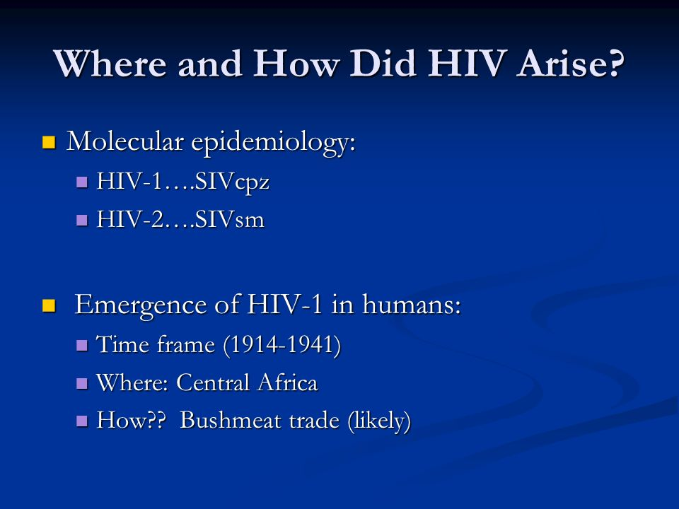 Where and How Did HIV Arise