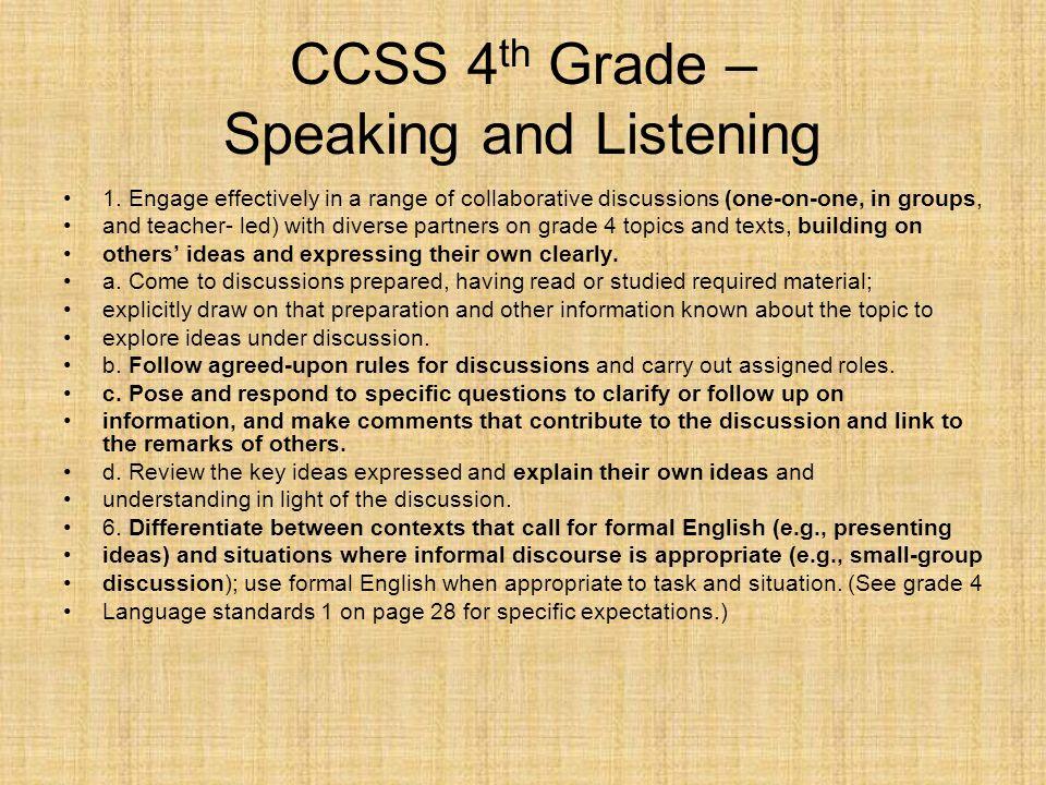 4th grade speech topics