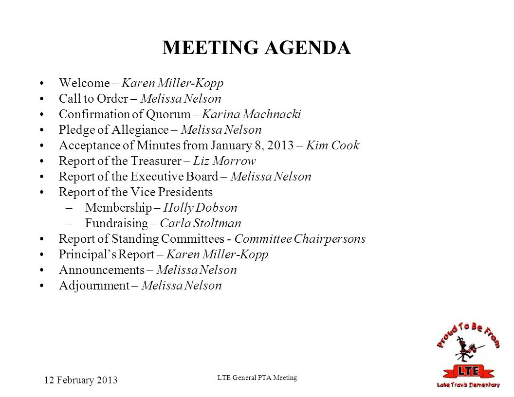 pta meeting agenda - Parfu kaptanband co