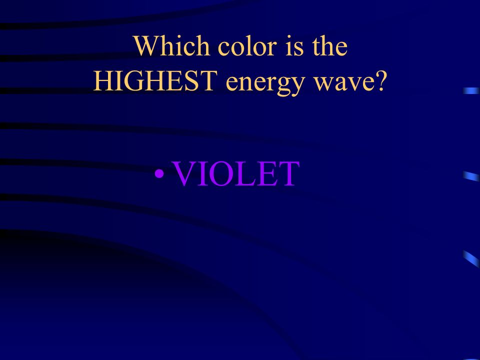 Which color is the HIGHEST energy wave