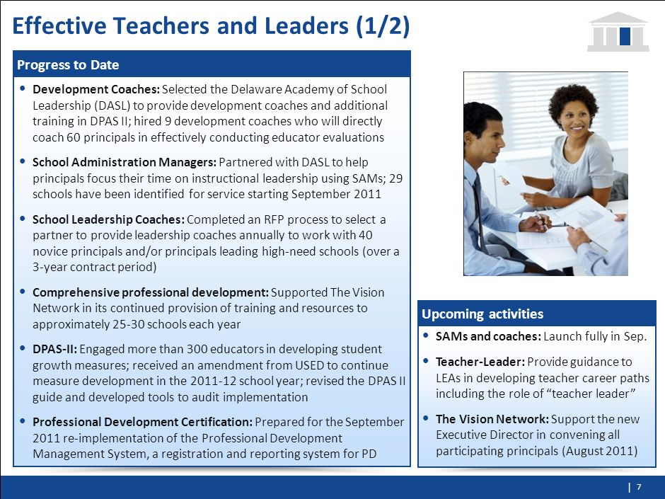 Effective Teachers and Leaders (1/2)